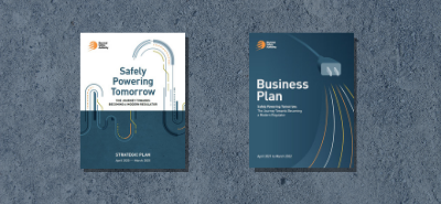 cover of strategic plan - safely powering tomorrow